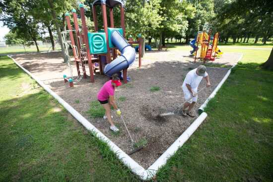 Oran moves funds from grass cutting for park improvements