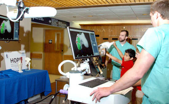 Elementary students name new robotic arm system at Missouri Delta Medical Center