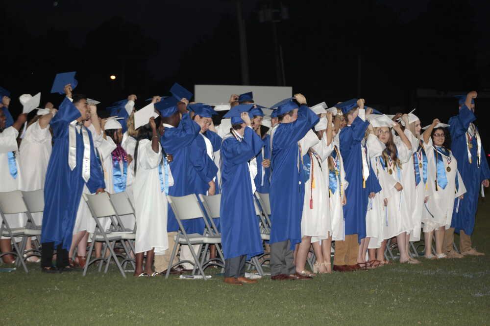 Hats went flying last week at PHS graduation