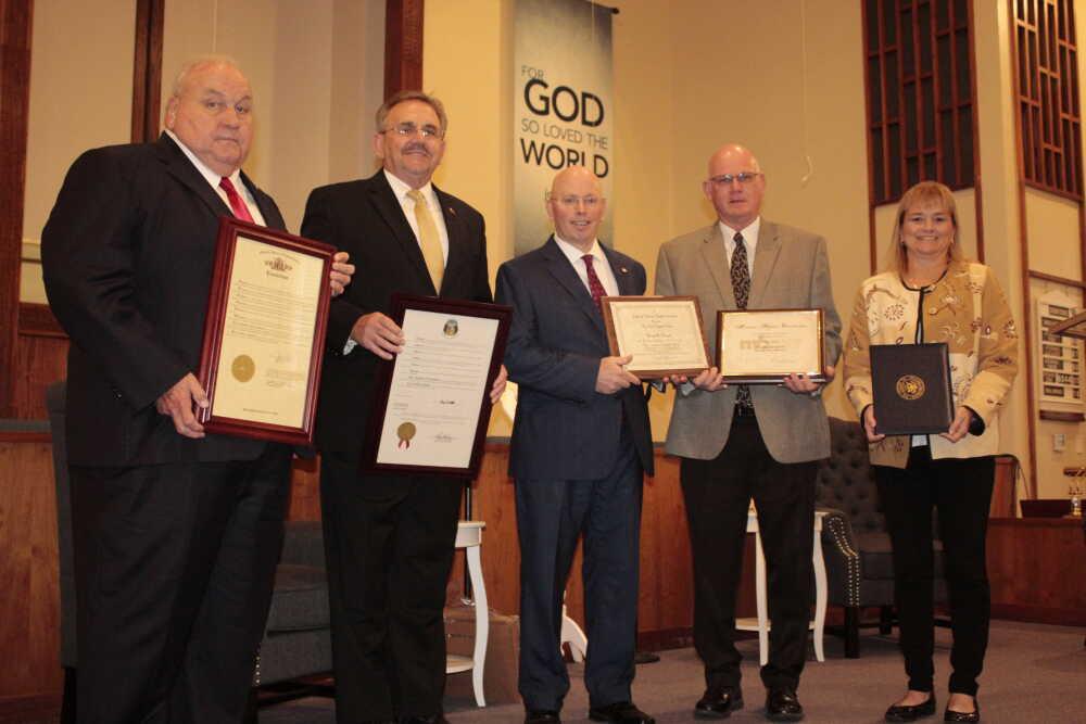 Officials recognize church anniversary