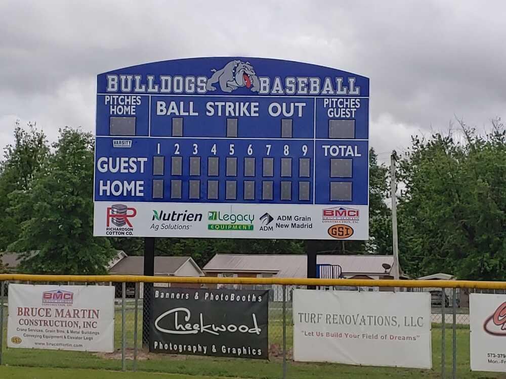 Ball field gets new scoreboard